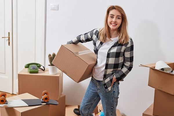 Do it yourself, moving house concept, moving guide